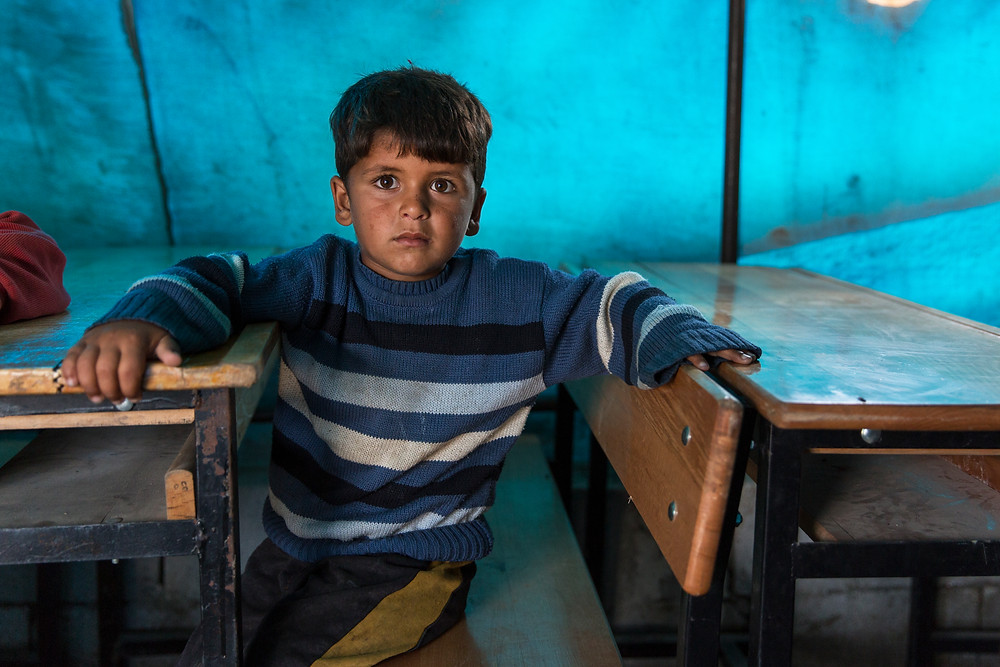 This is the first time many of these refugee children have been at school