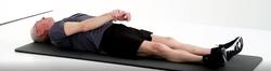 flexion épaule en position allongée