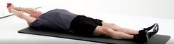 flexion épaule en position allongée 3