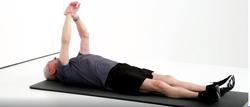 flexion épaule en position allongée 2