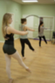 Adult dance students taking class at Barriskill Dance Theatre School in Durham, NC
