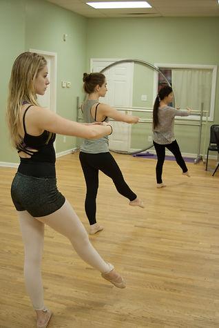Adult dance students taking class at Barriskill Dance Theatre School in Durham, NC