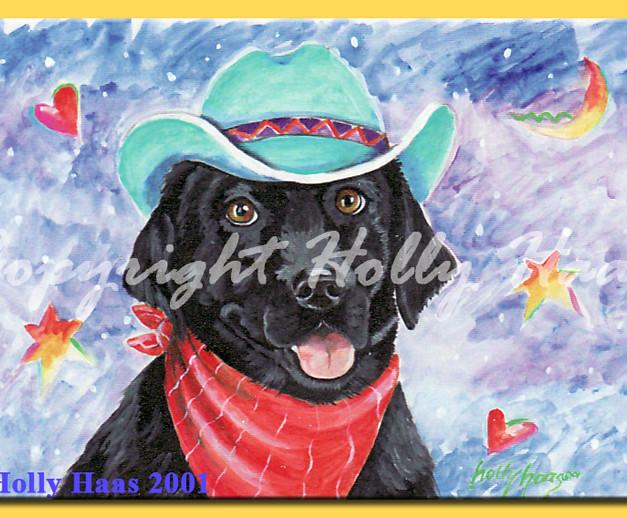 Blk Lab Cowboy
