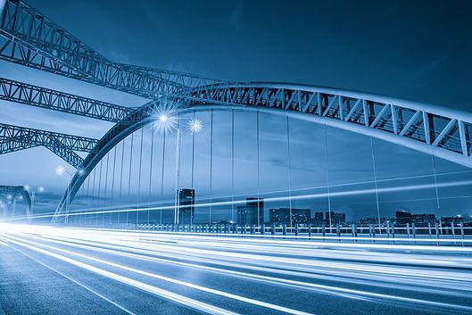 the night of modern bridge, .jpg