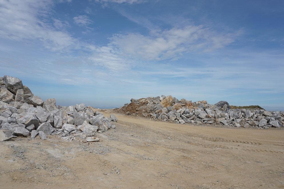 Limestone pile in mining.jpg