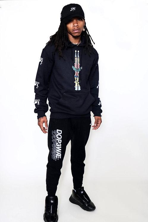 (Black/ White) DOPEWAE x Glass of Water Art Signature hoodie