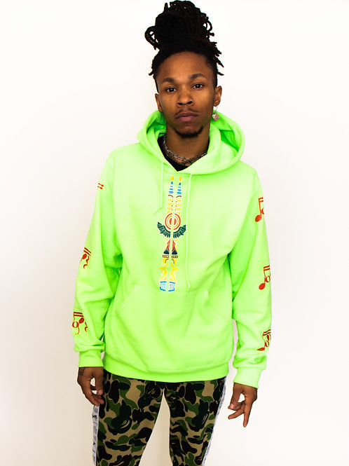 (Lime Green/ Red) DOPEWAE x Glass of Water Art Signature hoodie