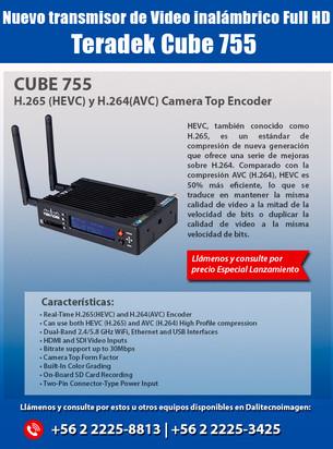 Dali Tecnoimagen: Nuevo transmisor de video inalámbrico Full HD Teradek Cube 755