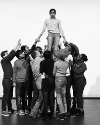 mob holding up actor