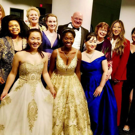 Natalie with fellow Concerto Competition finalists and their instructors
