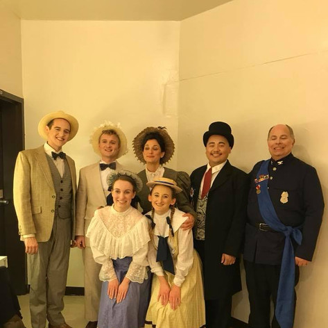 Natalie backstage for Britten's Albert Herring at George Mason University (2018)