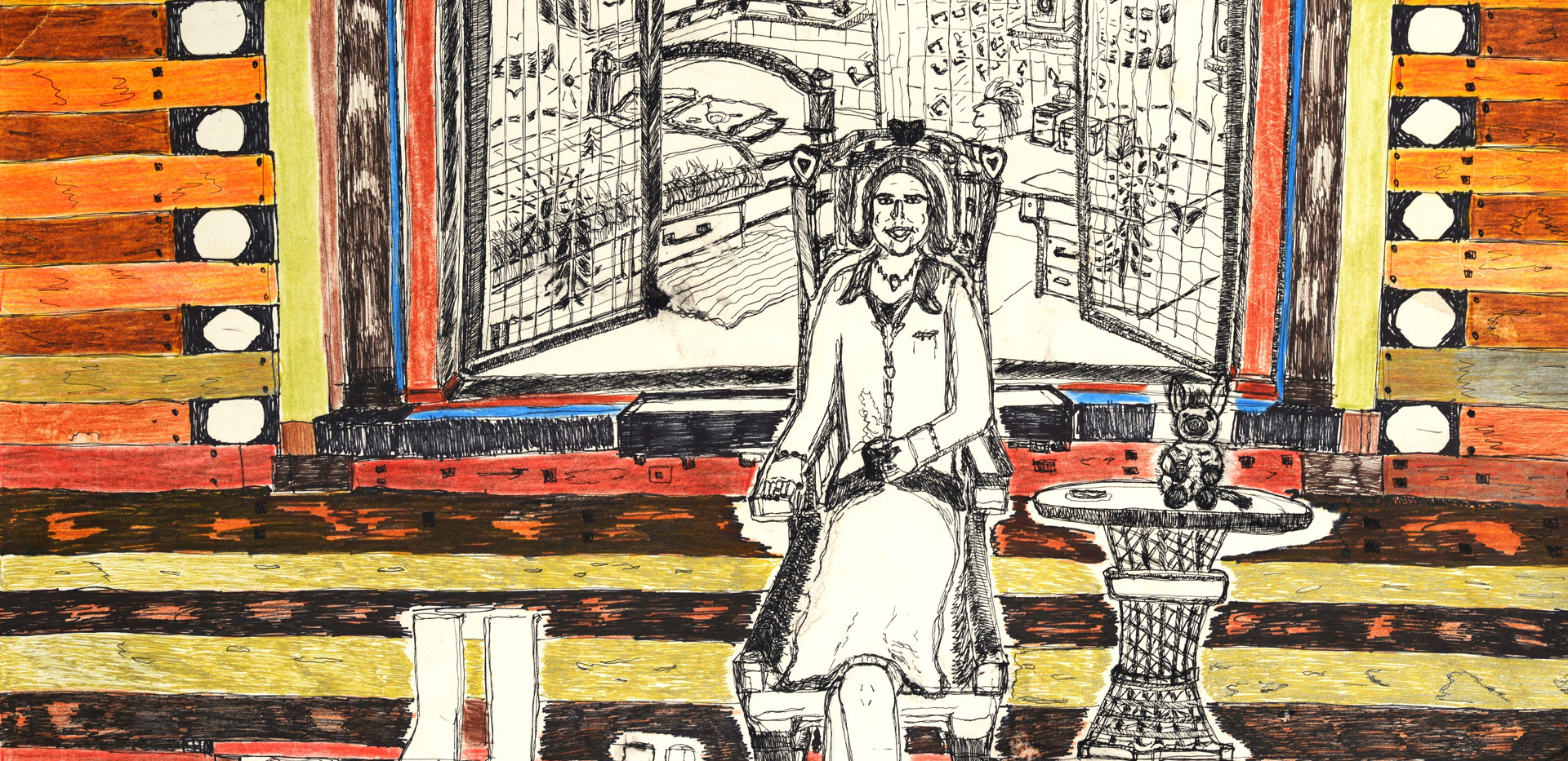 Véronique devant la fenêtre, 2011