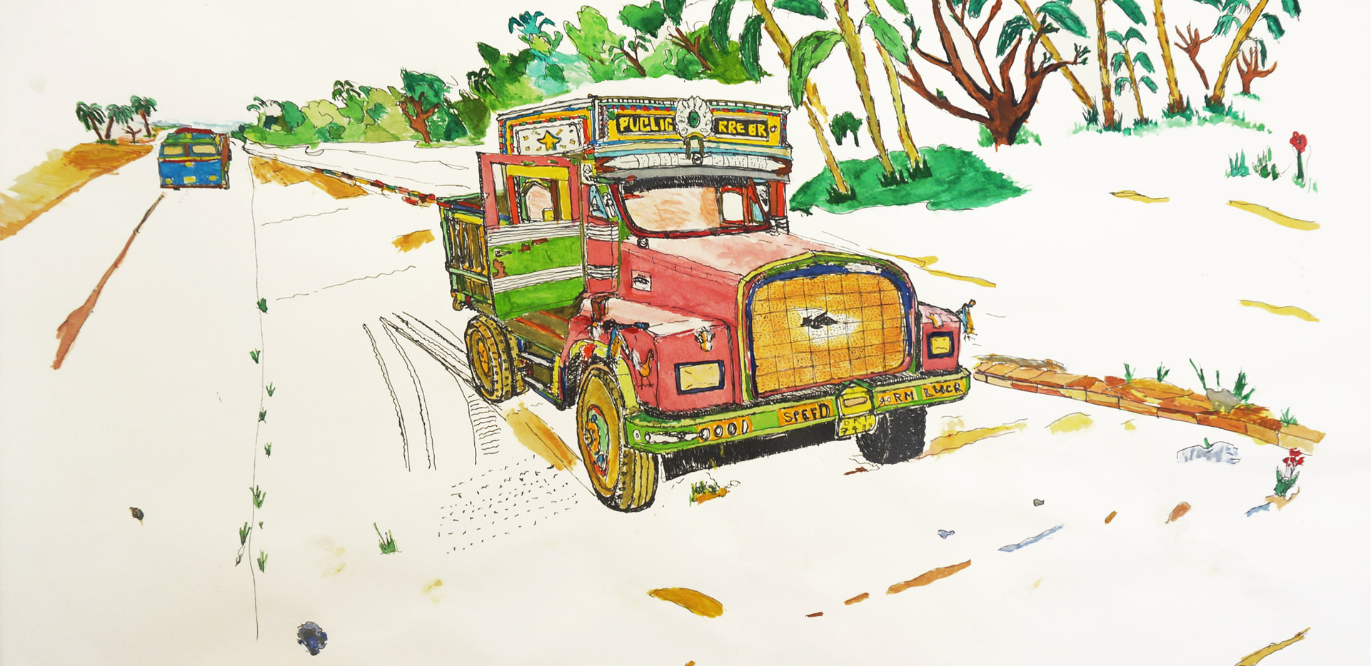 Le camion indien, 2014. cm50x70
