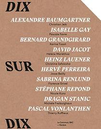 Dix sur Dix. Catalogue de l'exposition.