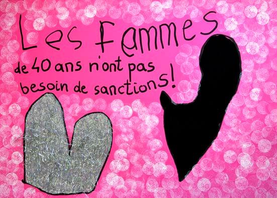 Les femmes de 40 ans n'ont pas besoin de sanctions !, 2015