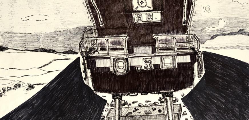 Le train sortant du dessin, 2009