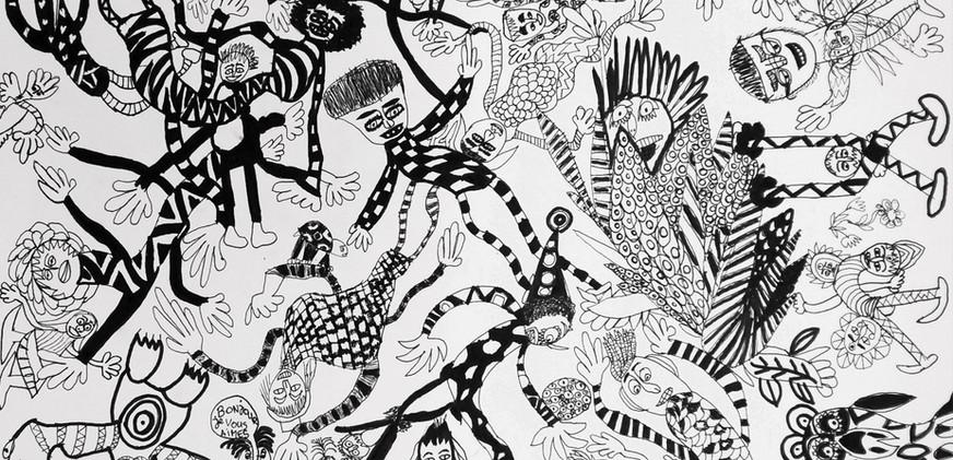 Les guignols, 2020. cm70x50