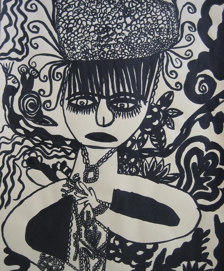 Une femme en fleurs et en poivres, 2011