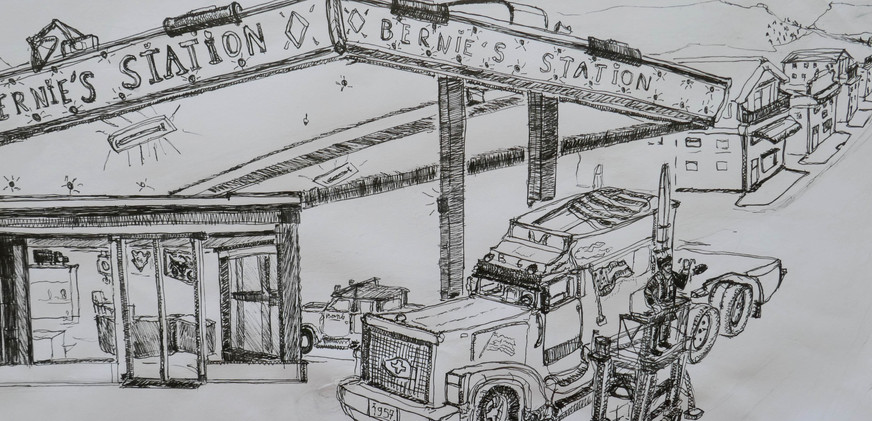 Le dessinateur du camion, 2015. cm 30x50