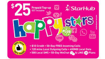 Starhub Happy Stars Plus $25 | bluestarmobiles-sg