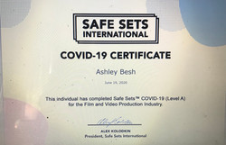 Safe Sets COVID-19 Certificate
