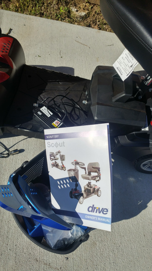 Mobility Scooter Drive w/ Basket Sunshade - Like New
