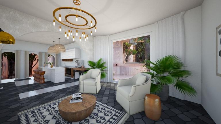 Livingroom to Kitchen