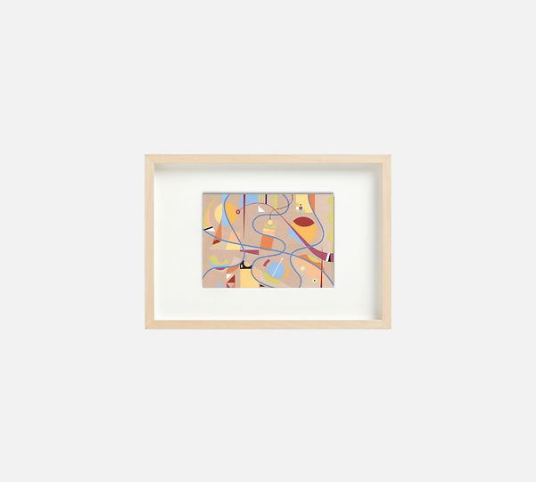 Giclee print of painting  S270 in IKEA birch frame size 21 x 29.7 cm.