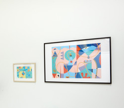 Fine Art Prints of Artwotk S267 & S262 on display at Artists Studio 106