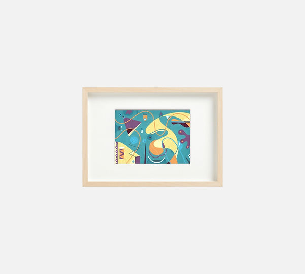 Giclee print of painting  S268 in IKEA birch frame size 21 x 29.7 cm.