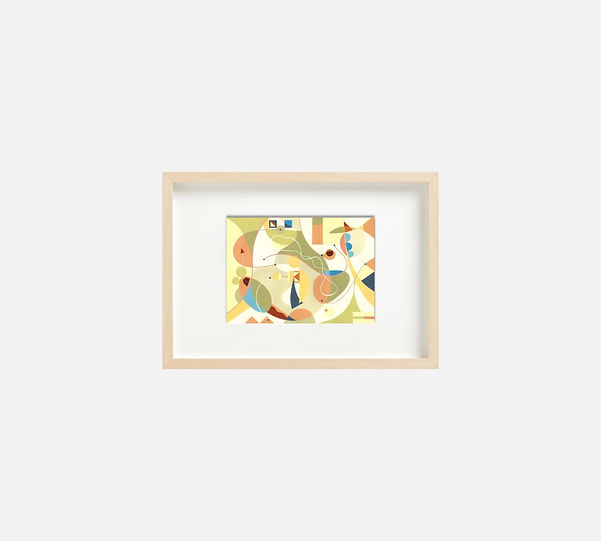 Giclee print of painting  S257 in IKEA birch frame size 21 x 29.7 cm