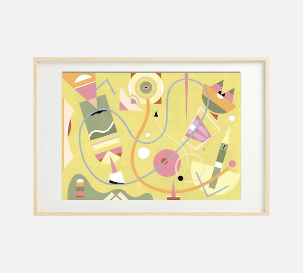 Giclee print of painting S273 in IKEA birch frame size 61 x 91 cm.