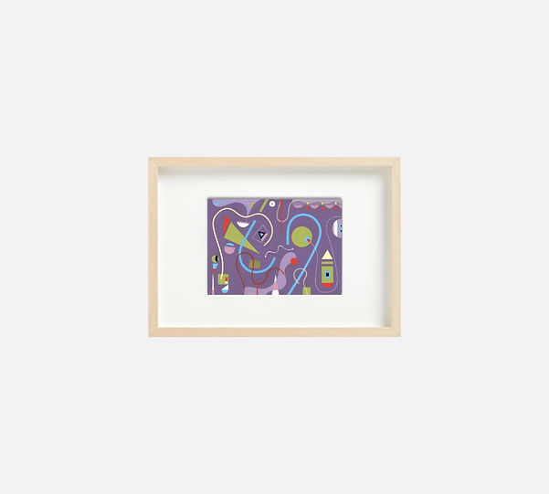 Giclee print of painting  S271 in IKEA birch frame size 21 x 29.7 cm.