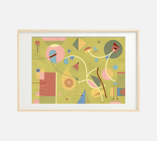 Giclee print of painting S258 in IKEA birch frame size 61 x 91 cm