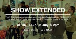 Artists' Studio 106 - Flier: Show & Sale Extended (Artist Talk Eevent)