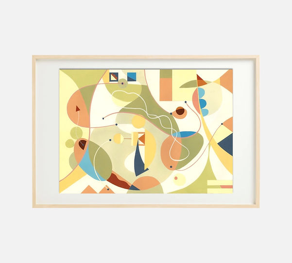 Giclee print of painting S257 in IKEA birch frame size 61 x 91 cm