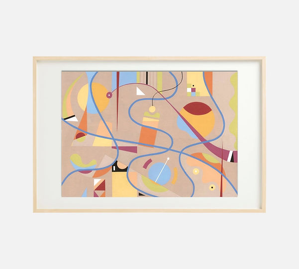 Giclee print of painting S270 in IKEA birch frame size 61 x 91 cm.