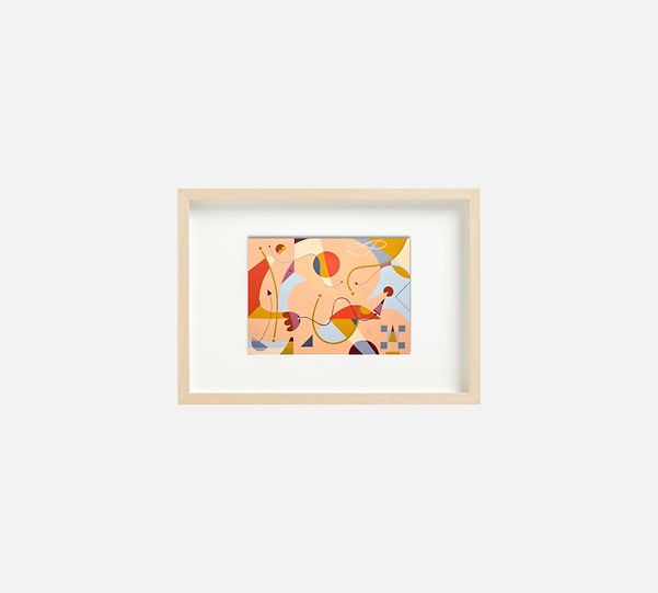 Giclee print of painting  S259 in IKEA birch frame size 21 x 29.7 cm.