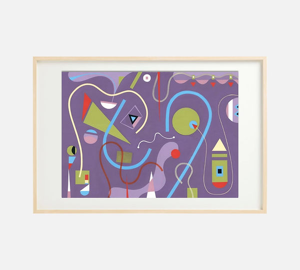 Giclee print of painting S271 in IKEA birch frame size 61 x 91 cm.