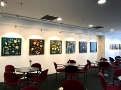 Abstract paintings titled S228, S229, S230, and S238 at the exhibition 'From Within'.