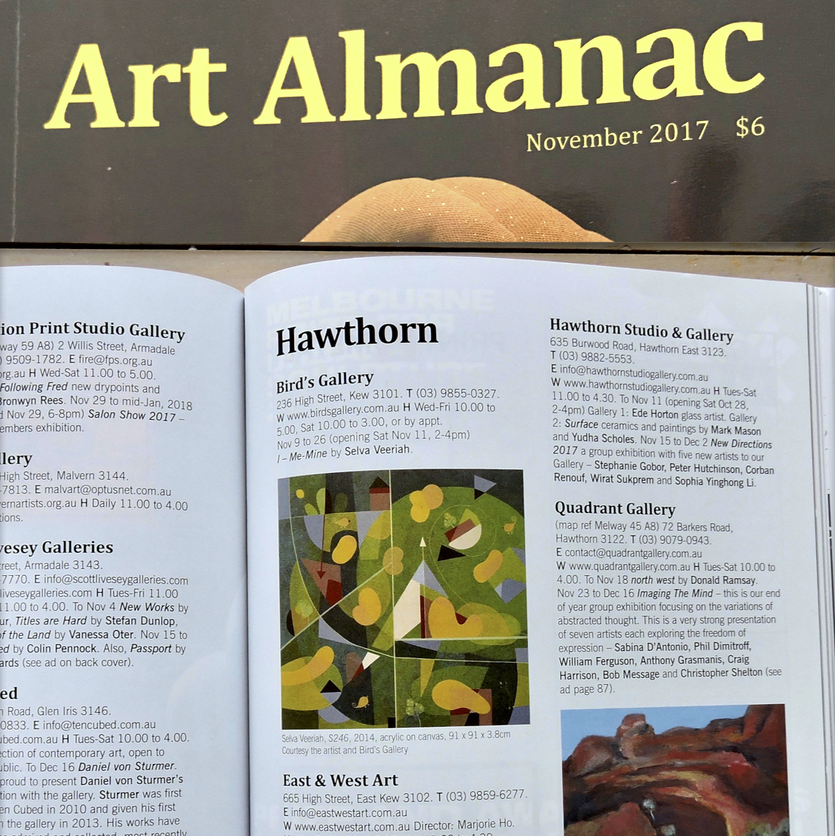 Art Almanac Nov 2017