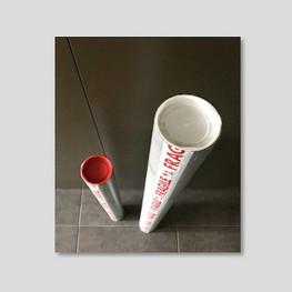 Packaging artwork in a postal tube, Selva Veeriah Artist, Melbourne