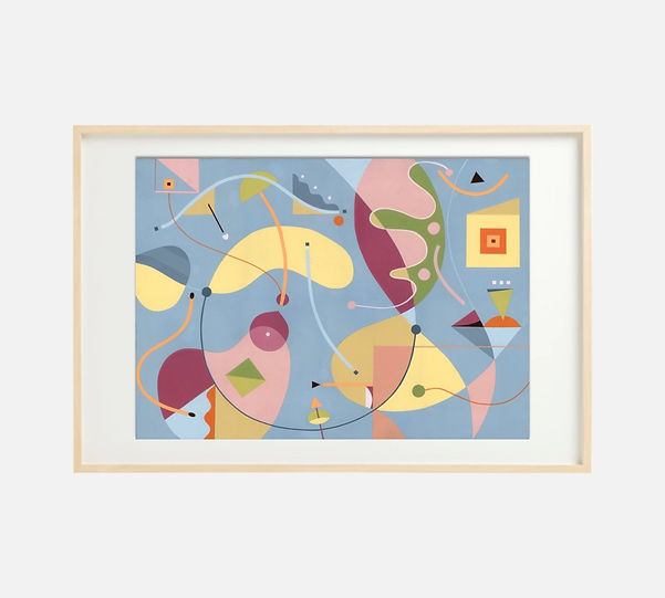Giclee print of painting S260 in IKEA birch frame size 61 x 91 cm.