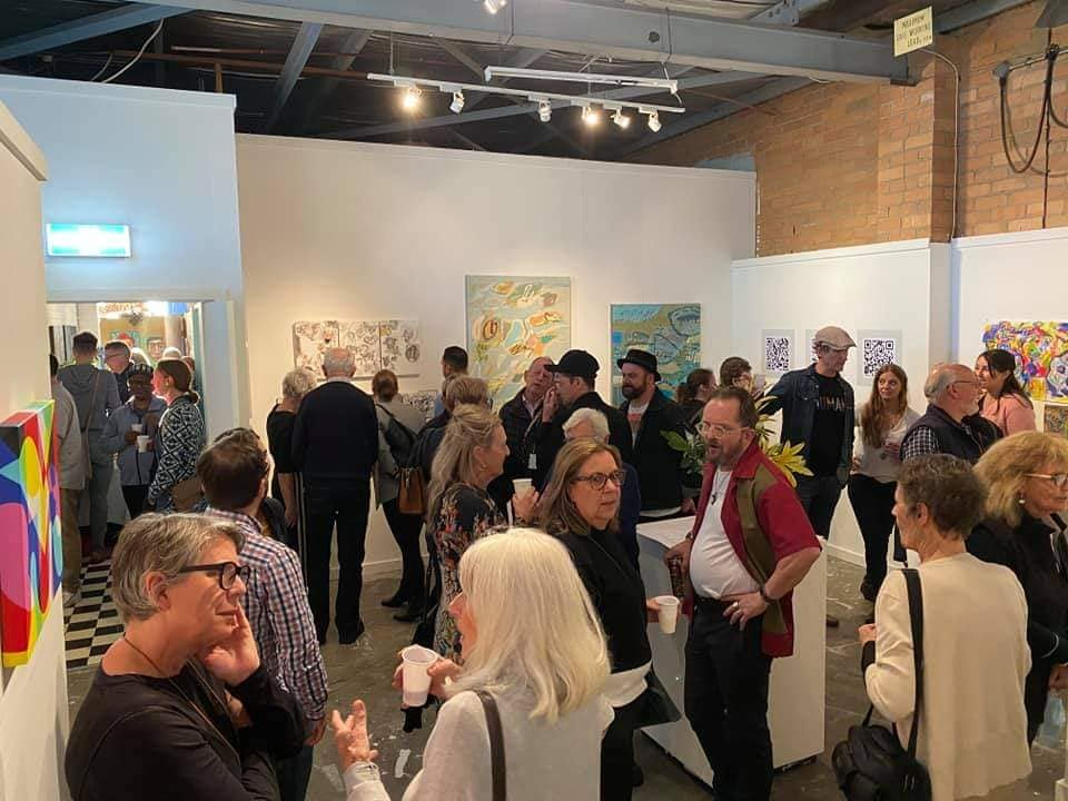 Artists' Studio 106 - Overview of attendees at group exhibition