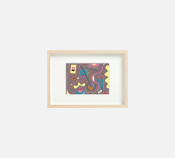 Giclee print of painting  S265 in IKEA birch frame size 21 x 29.7 cm.