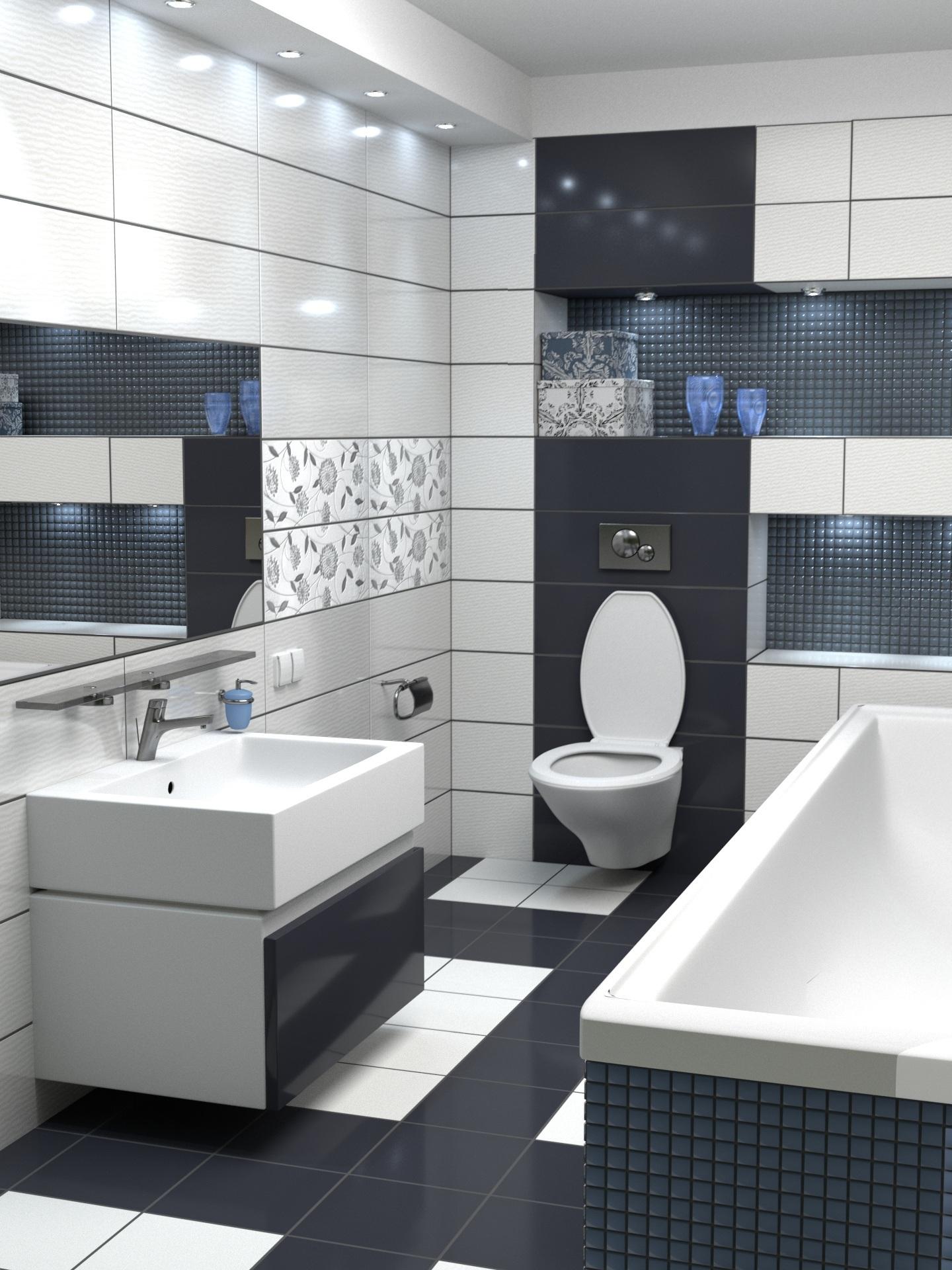 Banheiro em contraste