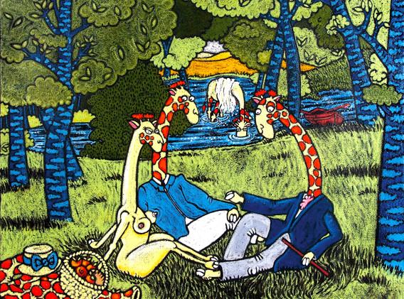 """""""Le Déjeuner sur l'herbe"""" d'après Édouard Manet"""