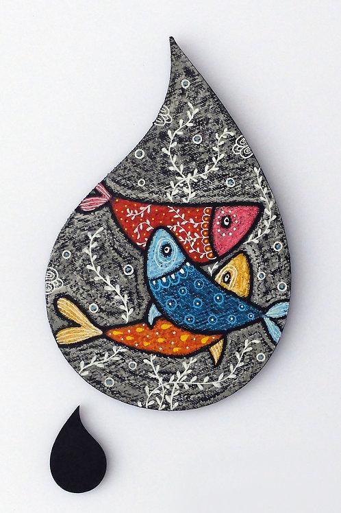 Goutte poissons - Modèle moyen