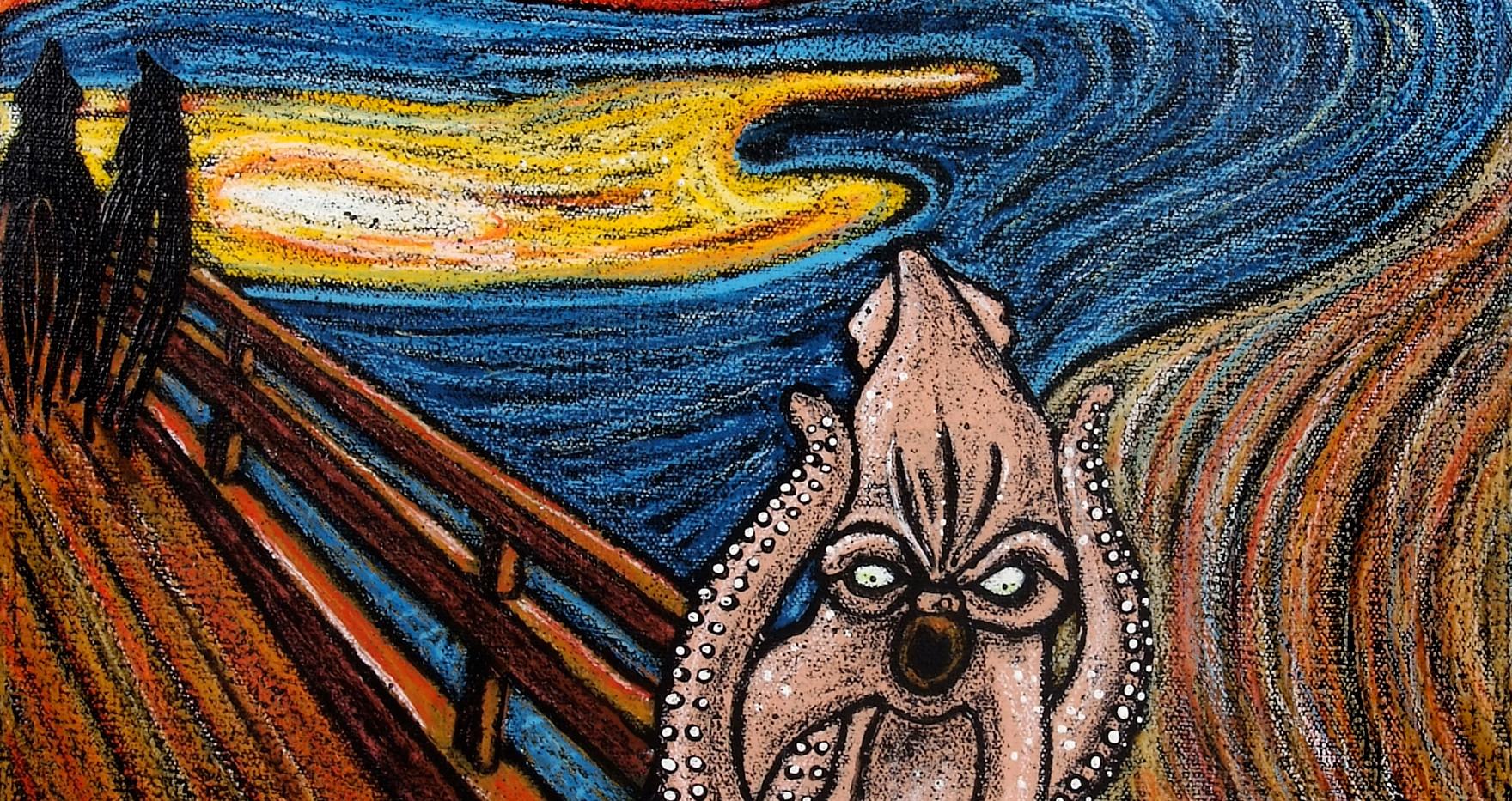 """""""Le cri"""" d'après Munch"""