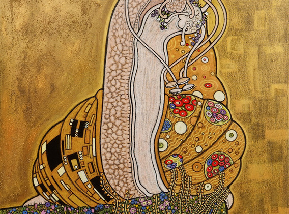 """""""Le baiser"""" d'après Klimt"""